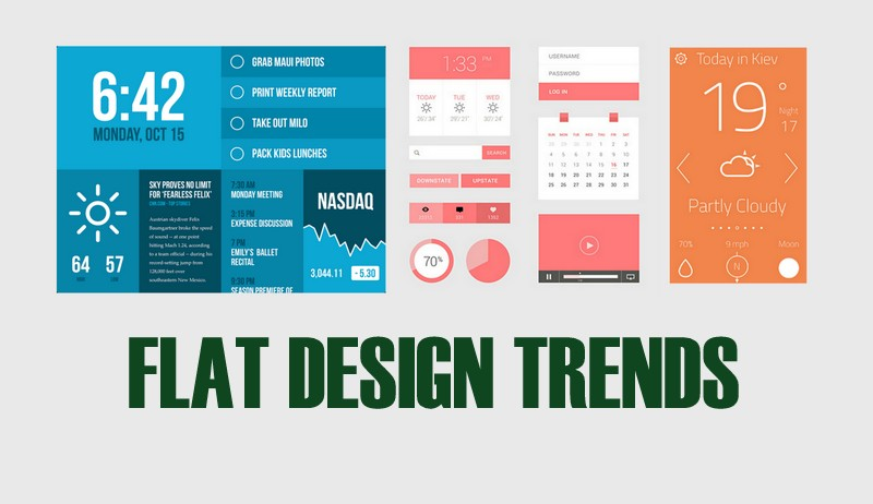 Flat Design Trends, Flat Web Design, Flat Design