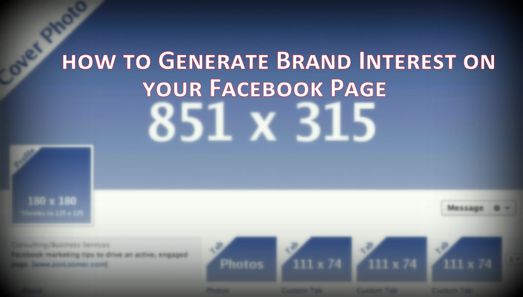 Facebook Page Marketing, Facebook Page branding, Facebook Page promotional tips