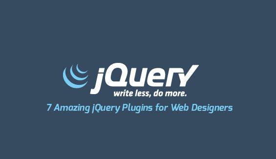 7 Amazing jQuery Plugins for Web Designers