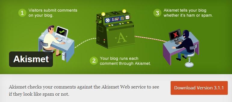 Download Install Akismet WordPress Plugin