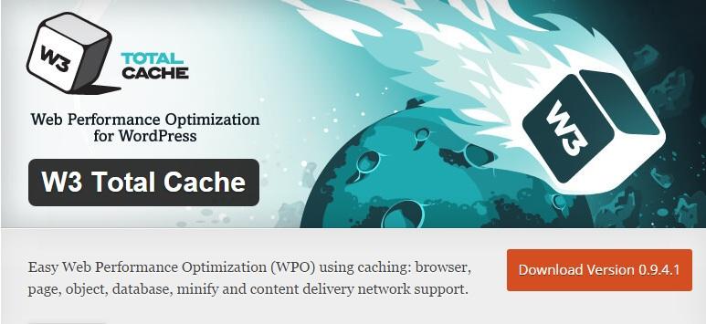 Download Install W3 Total Cache WordPress Plugin