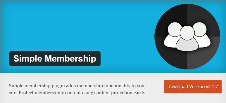 Download Install WordPress Simple Membership Plugin