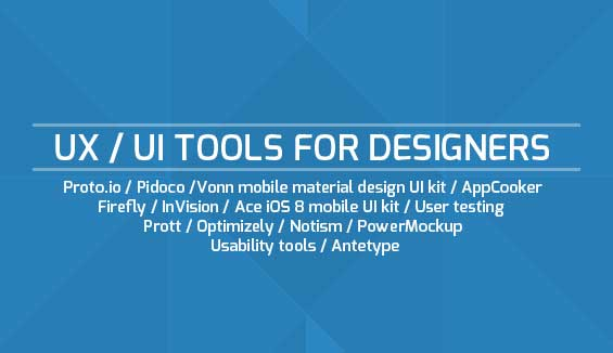 UX & UI Tools for Web Designers
