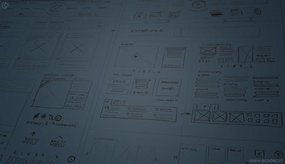 Sketching the Website Layout
