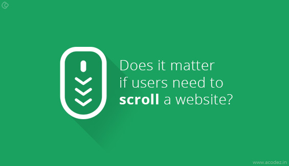 Does it matter if users need to scroll a website