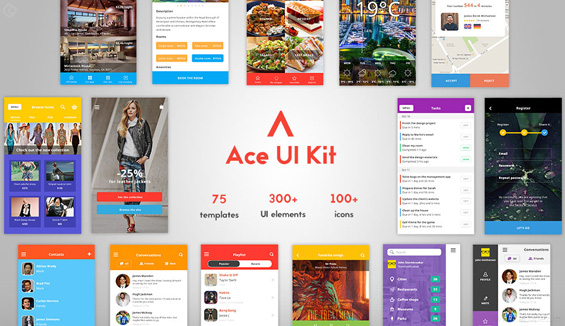 web design tool - Ace-iOS-8-mobile-UI-kit