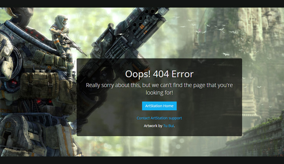 ArtStation - 404 error page