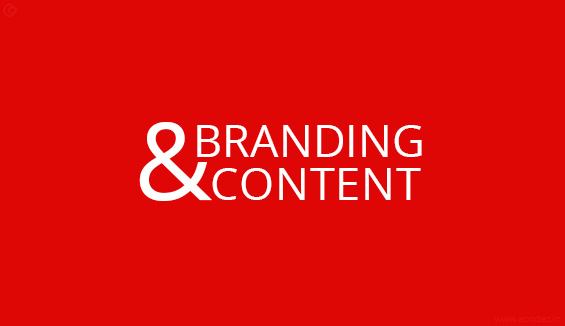 Branding and content
