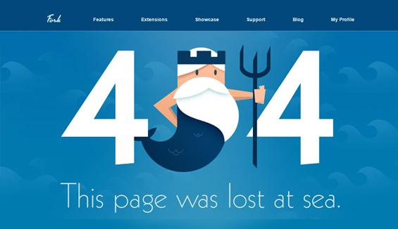 Fork CMS - 404 error page