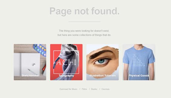 Gumroad - 404 error page