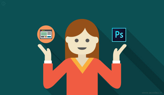 Let us check out the differences between designing in a browser and Photoshop: