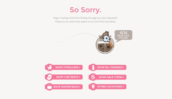 Snuggle Bugz - 404 error page