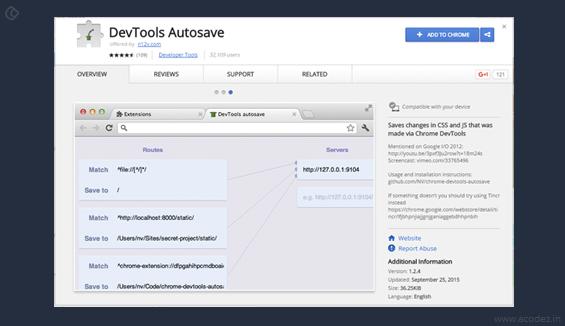 DevTools Autosave