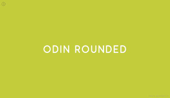 Odin Rounded - Free Fonts for Professional Web Design