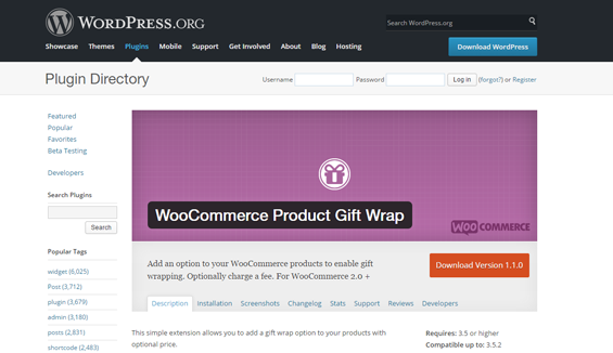 WooCommerce Product Gift Wrap