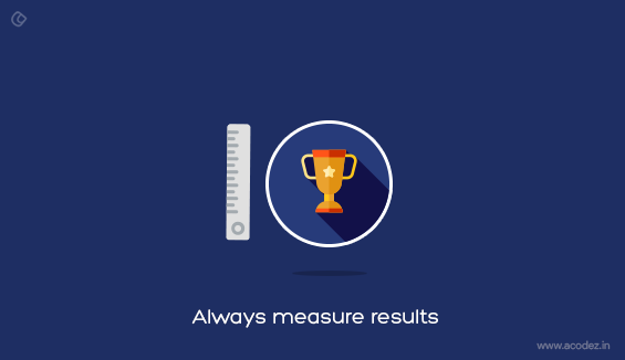 Always Measure Results