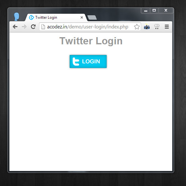 Sign in with Twitter, How to implement Sign in with Twitter, implementing Sign in with Twitter, Login page of Sign in with Twitter