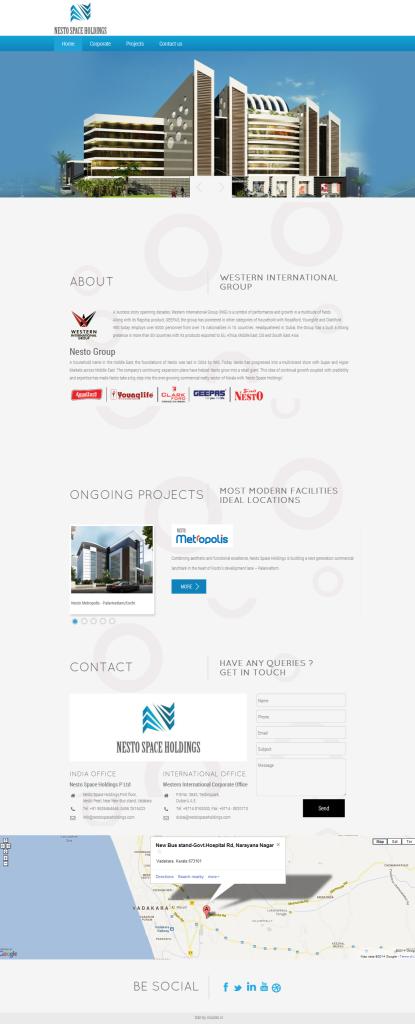parallax website design, parallax website portfolio, parallax design sample, parallax website design services from India, website design on bootstrap, services for parallax web design