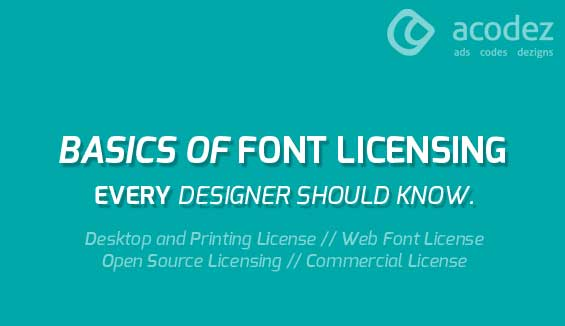 basics of font licensing every designer should know