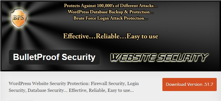 Download Install BulletProof Security WordPress Plugin