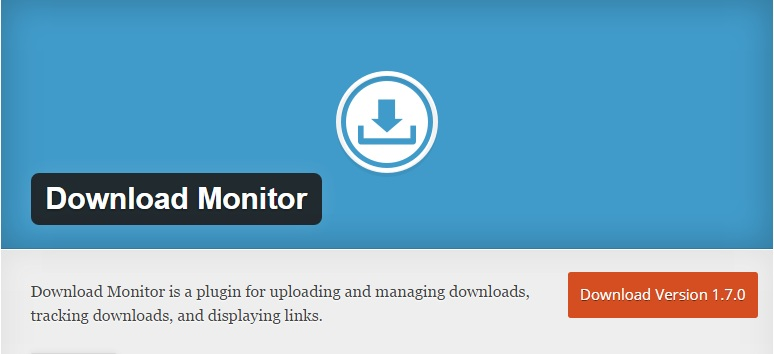 Download Install Download Monitor WordPress Plugin