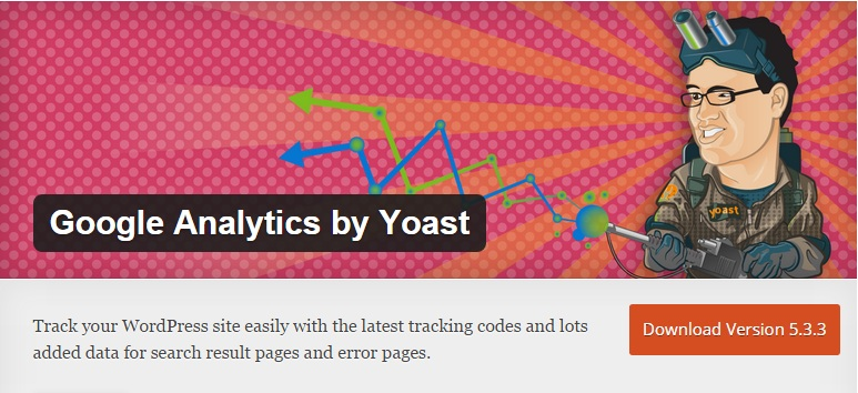 Download Install Google Analytics by Yoast WordPress Plugin