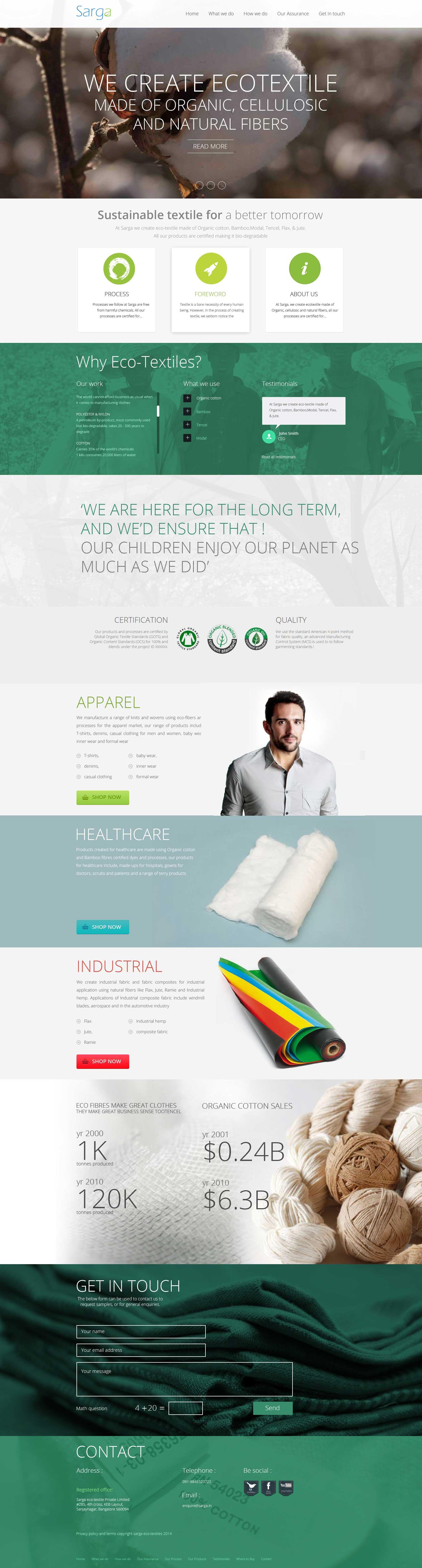 Sarga Ecotextile designed by Acodez
