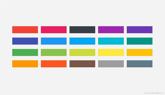 Components of Material Design - Colors