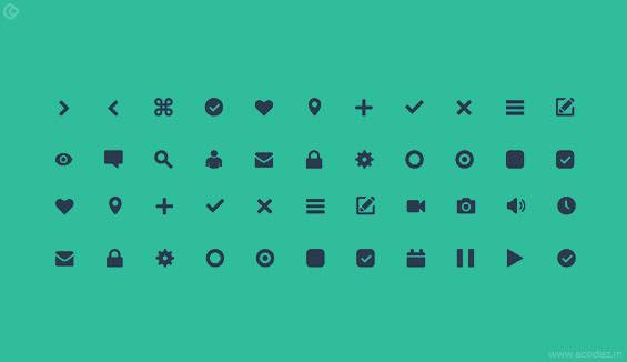 Components of Material Design - icons