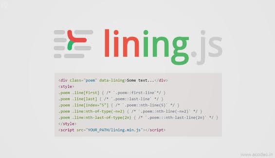 Typographic Tools - LiningJS