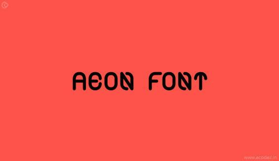Aeon Webfont