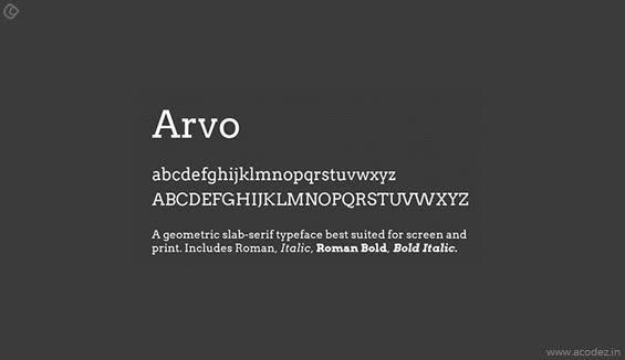 Arvo Webfont