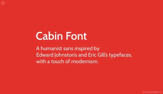 Cabin Webfont