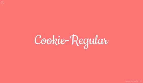 Cookie Webfont
