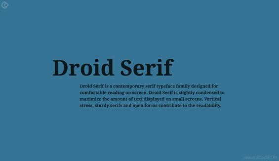 Droid trio Webfont