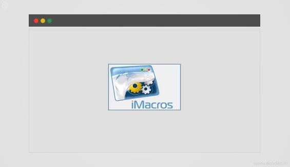 iMacros for Chrome Extension