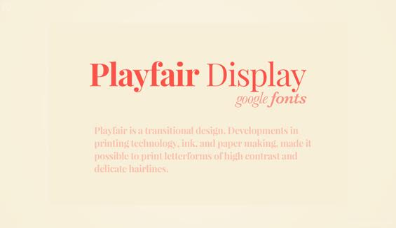 Playfair Display Webfont