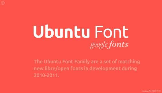 Ubuntu Webfont