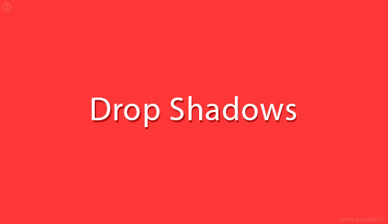 Adding Drop Shadows