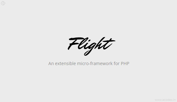 Flight PHP Framework