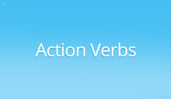 User Interface Design Implement Action Verbs