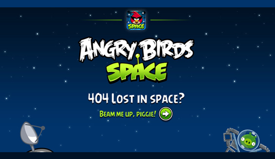 Angry Birds - 404 error page