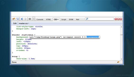 Firebug- Firefox Addon for Software Testing