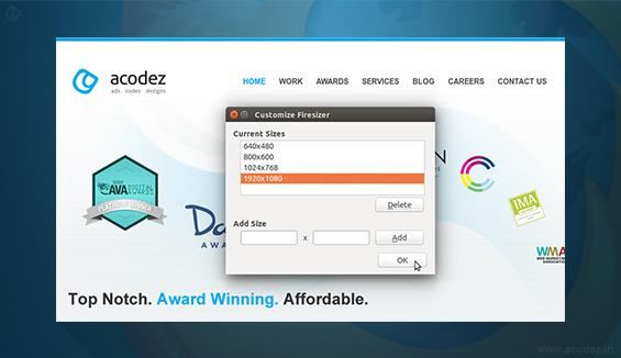 Firesizer - Firefox Addon for Software Testing