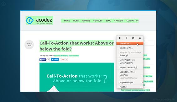Pinger - Firefox Addon for Software Testing