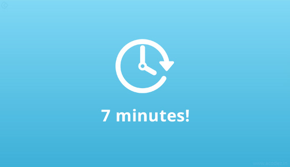 7 minutes and you are the owner of a full-fledged online business
