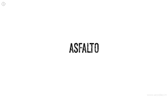 Asfalto - Free Fonts for Professional Web Design