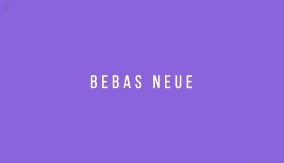 Bebas Neue - Free Fonts for Professional Web Design