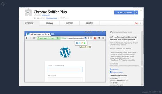 Chrome Sniffer Plus
