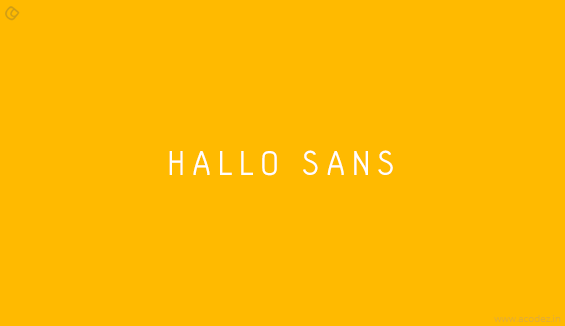 Hallo Sans - Free Fonts for Professional Web Design